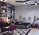 Teenage bedroom wallpaper ideas