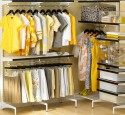 Free standing walk in closet systems