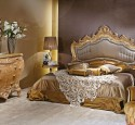 Bedroom Design In Classic Style Noble Gold And Dark Coffee