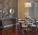 Glass top wooden dining table designs