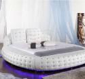 White round queen bed