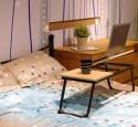 Adjustable bedside laptop table