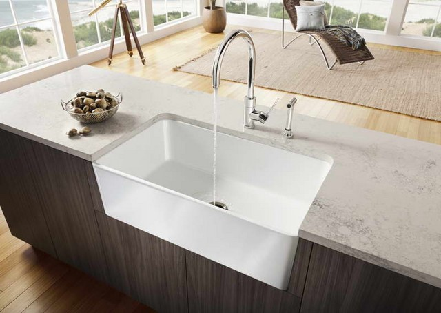 Corner kitchen sink design benefits