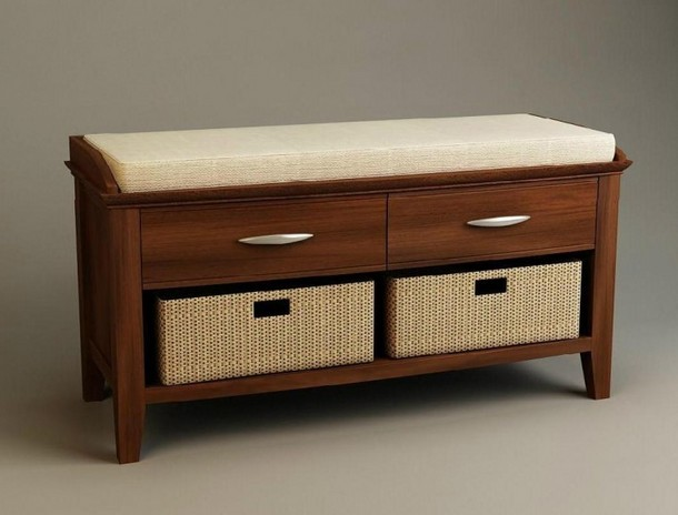 Bedroom storage chest bench