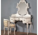 Bedroom vanity desk grey