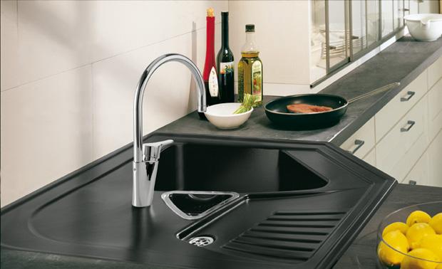 Corner Kitchen Double Sink