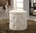 Fabric pouf round ottoman