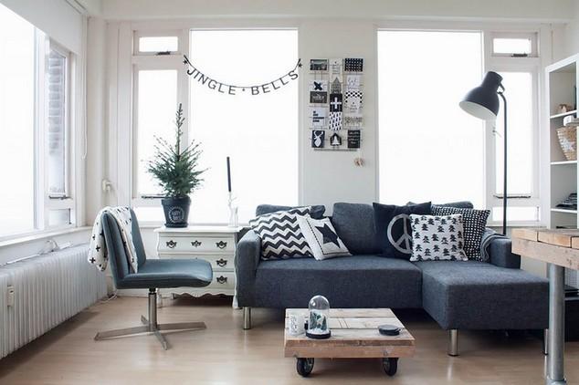 Contemporary apartment size sofas