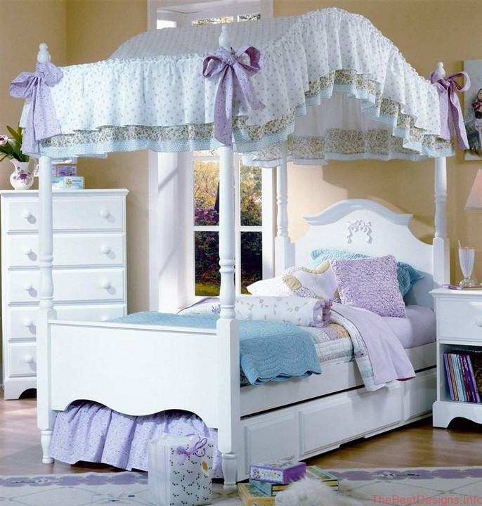 Girl Canopy Bed King Size