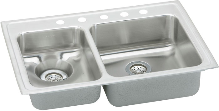 Stainless steel kitchen sink double bowl