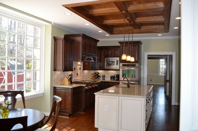 Versatile and beautiful cherry kitchen cabinets
