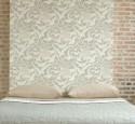Brick wallpaper in bedroom