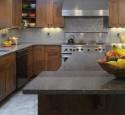Granite kitchen countertops with maple cabinets