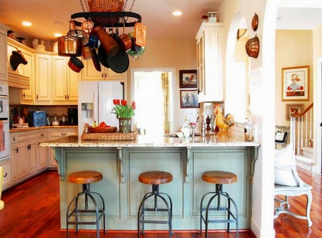 Industrial bar stool in a kitchen loft