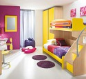 Purple yellow bedroom ideas