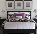 Purple white bedroom ideas