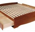 Platform bed queen wood