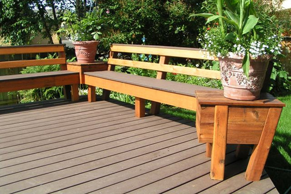 Beautiful Patio Deck Bench Designs