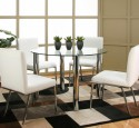 Traditional glass top dining tables