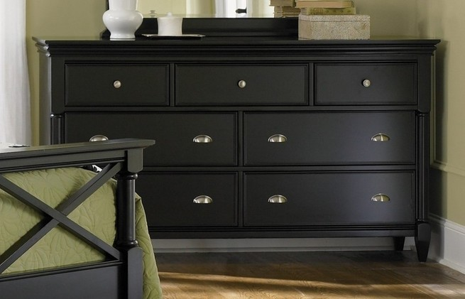Bedroom dressers black
