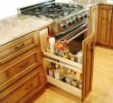 Kitchen cabinets storage racks