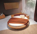 Round bed designs in wood