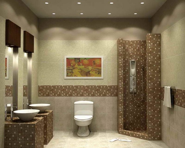 The main advantages of bathroom floor tile