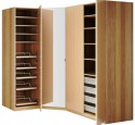 Free standing closets wood