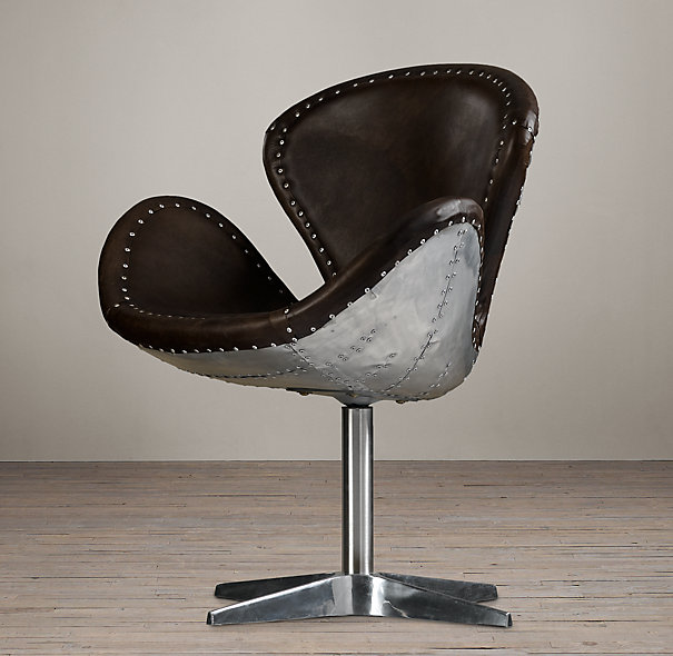 Leather desk chair no wheels