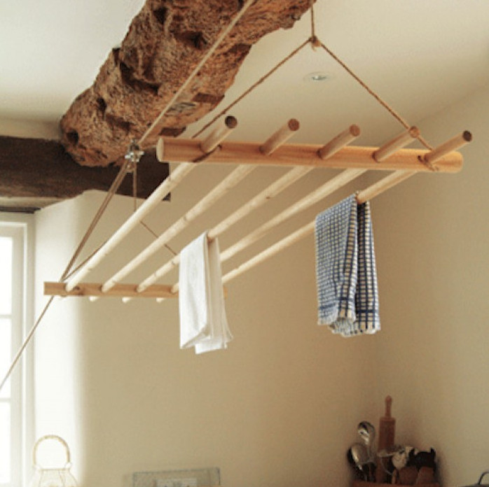 Потолочная сушилка для белья на балкон: выбор, монтаж, изгот.