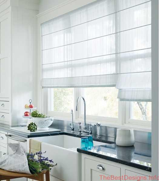 Modern Window Treatment Ideas For Kitchen Shades