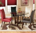 Elegant glass top dining tables