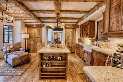 Natural charm of rustic kitchen cabinets