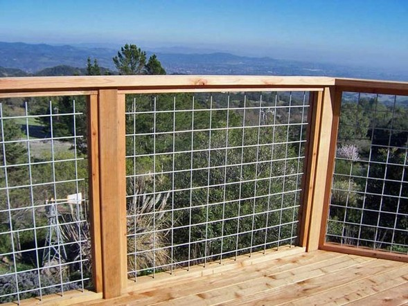 Diy wire mesh deck railing
