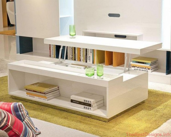 Modern Lift Top Coffee Table White