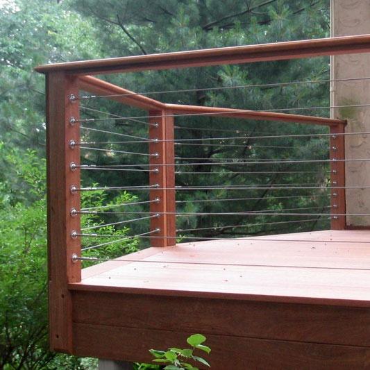 Wire deck railing designs