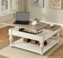 White Lift Top Coffee Table Modern Design