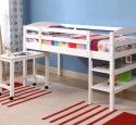 Loft Bed With Desk White Wood