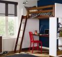 Loft Bed With Desk Bookshelf