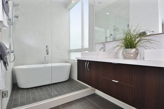 Modern Shower Bath Combo