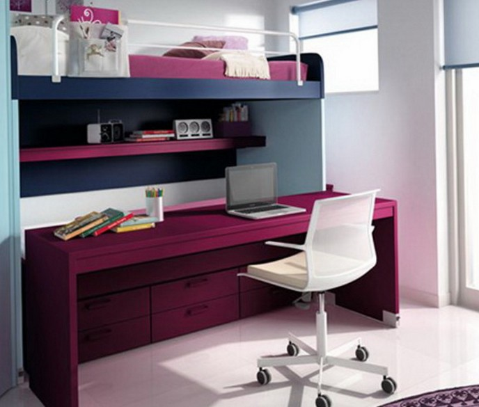Loft Bed With Desk On Top