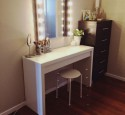 Lighted Vanity Table And Chair