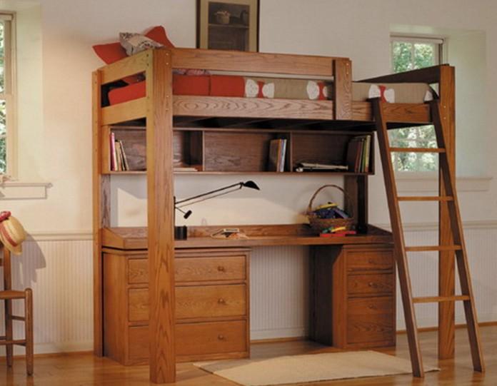 Loft Bed With Desk Full