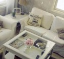 White Shadow Box Coffee Table