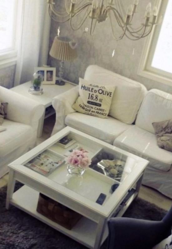 White Shadow Box Coffee Table
