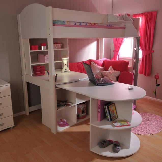 High Loft Bed With Desk