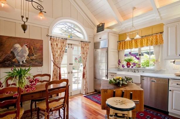 Window Treatments For French Country Kitchen