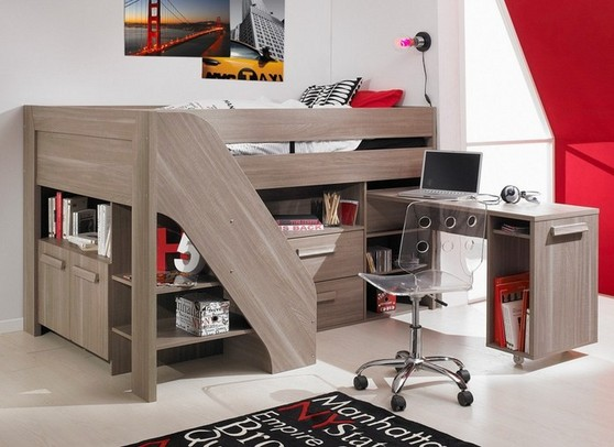 Youth Loft Bed With Desk