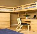 Hardwood Loft Bed With Desk