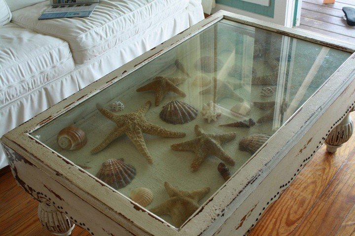 Antique Shadow Box End Table